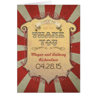 Karnevals-Hochzeit danken Ihnen Karten