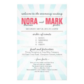 Karnevals-Hochzeits-Programm Flyer