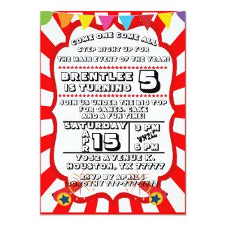 Karnevals-Party Einladung, Zirkus-Einladung Karte