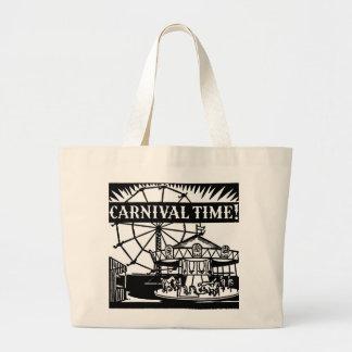 Karnevals-Zeit Jumbo Stoffbeutel