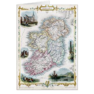 Karte 1851 von Irland