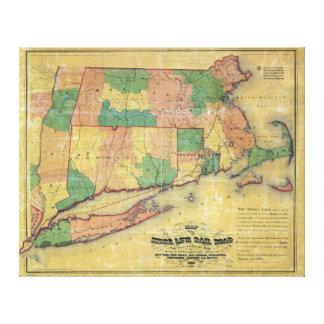 Karte 1860 der Ufer-Linie Eisenbahn Gespannte Galeriedrucke