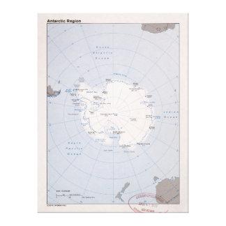 Karte antarktischen Region (1982) Leinwanddruck