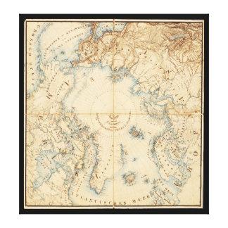 Karte der arktischen und angrenzenden Regionen Leinwanddruck