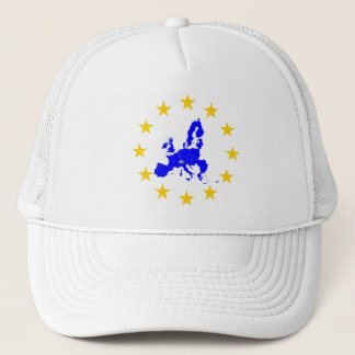 Karte der Europäischen Union mit Sternenkreis Truckerkappe