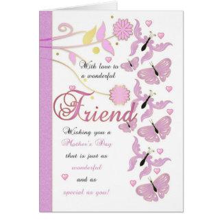 Karte der Freund-Mutter Tagesmit Blumen und