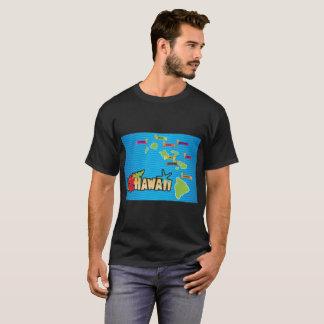 Karte der Hawaii-Inseln T-Shirt