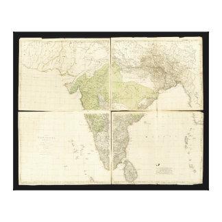 Karte der Ostinseln mit den Straßen (1768) Galerie Falt Leinwand