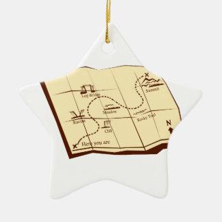 Karte der Spur mit X markiert den Keramik Stern-Ornament