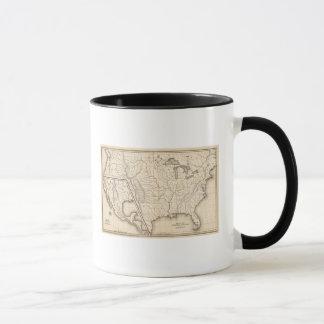 Karte der Vereinigten Staaten und des Texas Tasse