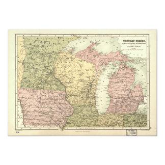 Karte des amerikanischen Mittelwestens (1873)
