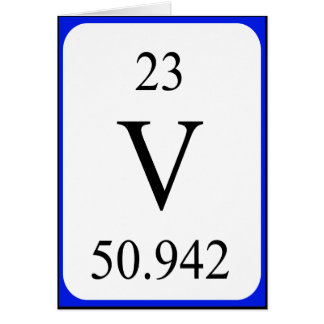 Karte des Elements 23 - Vanadiumweiß