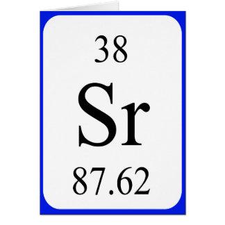 Karte des Elements 38 - Strontiumweiß