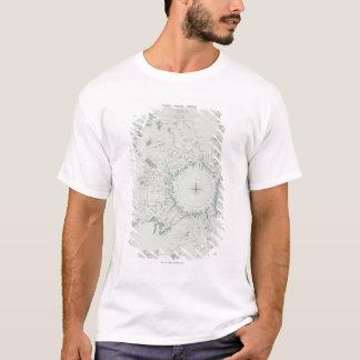 Karte des Nordpols T-Shirt