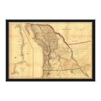 Karte des Oregon-Gebiets (1844) Galerie Faltleinwand