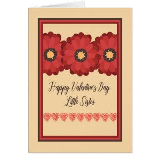 Karte des Valentines Tages, kleine Schwester mit