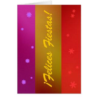 Karte - ¡ Felices Fiestas! - Mehrfarben