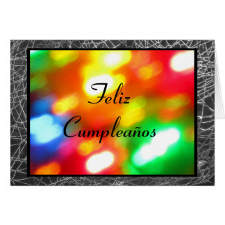 Karte - Feliz Cumpleaños - Mehrfarben