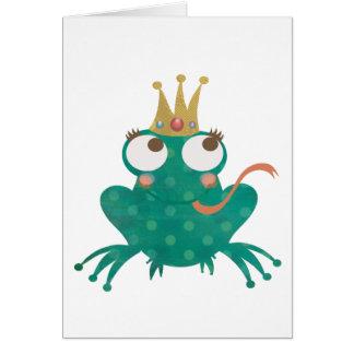 Karte Frosch-Prinz-Gruß