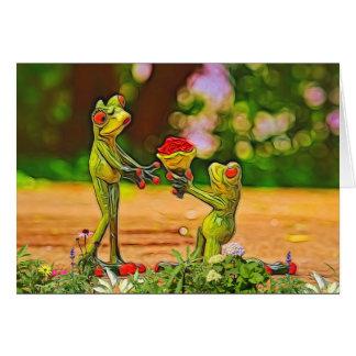 Karte Frosch-Prinz-Valentinstag