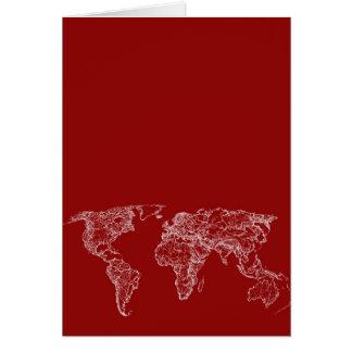 Karte im Rot
