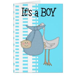 Karte ist es eine Jungen-neue Baby-Mitteilung
