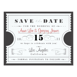 Karte Save the Date 10,8 X 14 Cm Einladungskarte