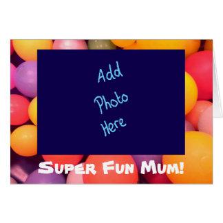 Karte Superder spaß-Mama-bunte Mutter Tages