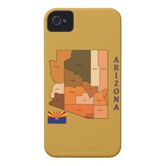 Karte und Flagge von Arizona iPhone 4 Case-Mate Hülle