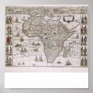 Karte von Afrika ab 1600 Poster