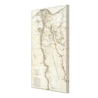 Karte von Ägypten Gespannter Galeriedruck