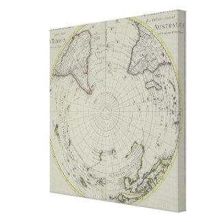 Karte von der Antarktis 2 Leinwanddrucke