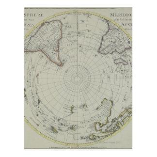 Karte von der Antarktis 2 Postkarte