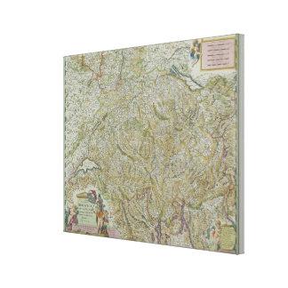 Karte von der Schweiz 2 Gespannter Galerie Druck