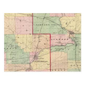 Karte von Holz- und Portage-Landkreisen