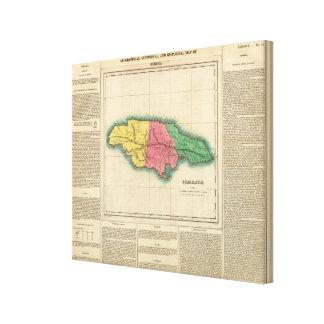 Karte von Jamaika Leinwanddruck