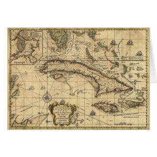 Karte von Kuba und von umgebenden Meeren (1762)