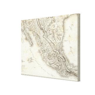 Karte von Mexiko Gespannte Galeriedrucke