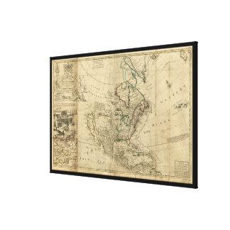 Karte von Nordamerika durch HermanMoll (1715) Gespannter Galerie Druck