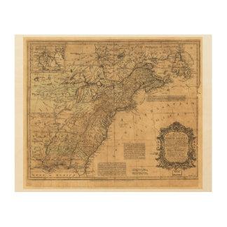 Karte von Nordamerika durch Thomas Kitchin (1755) Holzleinwände
