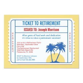 Karten-Art-Ruhestands-Einladung 12,7 X 17,8 Cm Einladungskarte