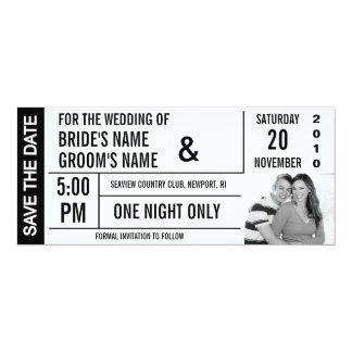 Karten-Entwurfs-Save the Date Foto-Karten Personalisierte Einladungskarte
