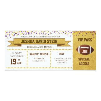 Karten-Fußballthema Bar Mitzvah 10,2 X 23,5 Cm Einladungskarte