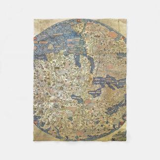 Karten-Kissen Fra Mauro Fleecedecke