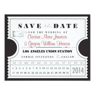 Karten-Lochkarte Save the Date 10,8 X 14 Cm Einladungskarte