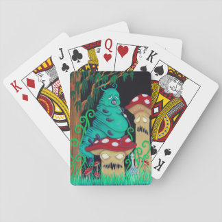 Karten mit der Raupe Spielkarten