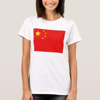 Karten-T - Shirt der China-Flaggen-x