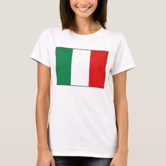 Karten-T - Shirt Italien-Flaggen-x