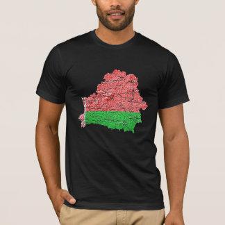 Karten-T - Shirt Weißrusslands Flagcolor