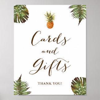 Karten und Geschenk-Zeichen-tropische Poster
